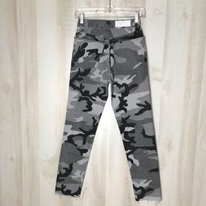 Re/Done High Rise Crop Camo Jeans Ankle Rare 23